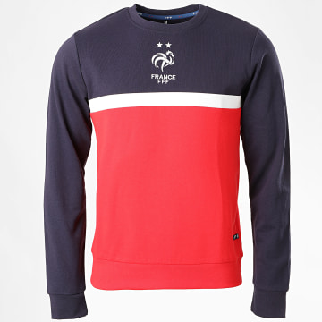 FFF - Sweat Crewneck Fan Tricolore Rouge Bleu Marine Blanc