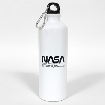 NASA - Gourde Worm Logo Blanc