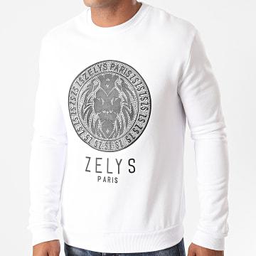 Zelys Paris - Sweat Crewneck Ocreed Blanc