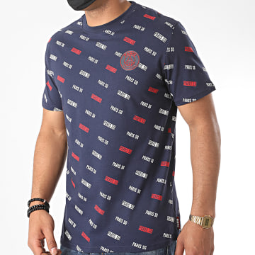 PSG - Tee Shirt All Over Bleu Marine