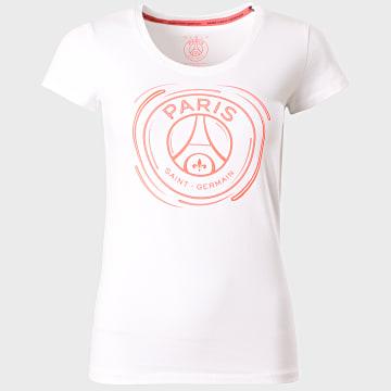 PSG - Tee Shirt Femme Big Logo Athlesure Blanc