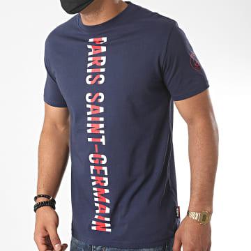 PSG - Tee Shirt Paris Saint-Germain Stripe Bleu Marine