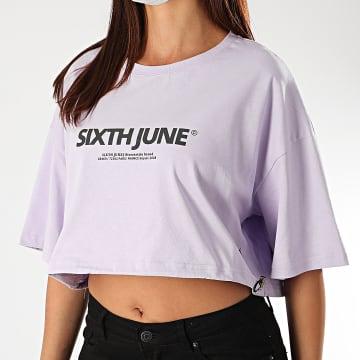Sixth June - Top Crop Femme W4120KTO Lilas