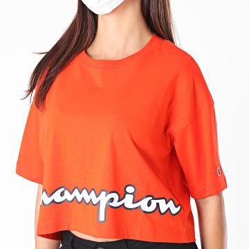 Champion - Tee Shirt Femme Boxy Crop 112655 Orange