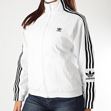 Adidas Originals - Veste Zippée A Bandes Femme FM2613 Blanc