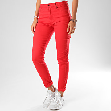 Girls Only - Jean Slim Femme G2108 Rouge