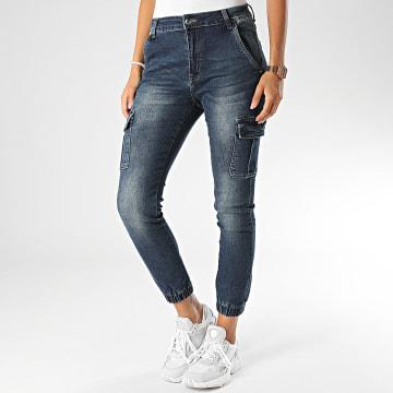 Girls Only - Jogger Pant Jean Femme 6701 Bleu Denim