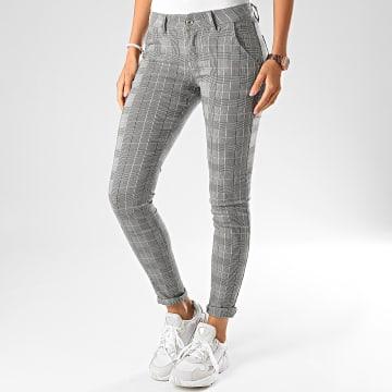 Girls Only - Pantalon Carreaux Skinny Femme 8251 Noir
