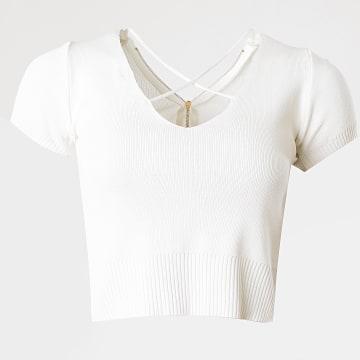 Girls Only - Top Crop Femme C-2135 Blanc