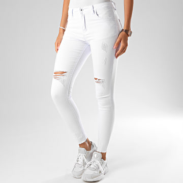 Girls Outfit - Jean Skinny Femme A2006-2 Blanc