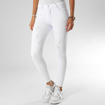 Girls Only - Jean Skinny Femme A2015 Blanc