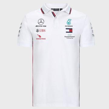 AMG Mercedes - Polo Manches Courtes AMG Mercedes Blanc
