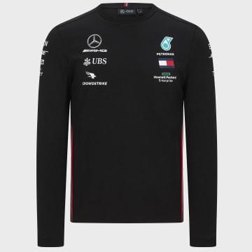 AMG Mercedes - Tee Shirt Manches Longues AMG Mercedes Noir