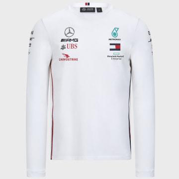 AMG Mercedes - Tee Shirt Manches Longues AMG Mercedes Blanc