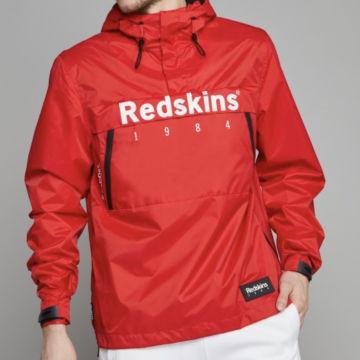 Redskins - Coupe-Vent Col Zippé Booking Rouge