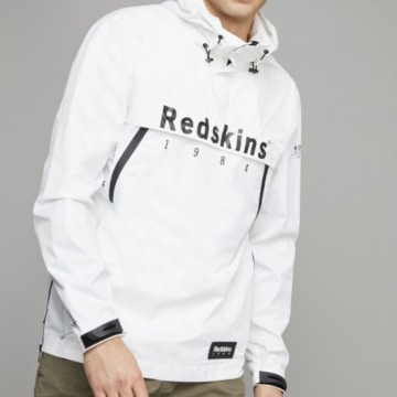 Redskins - Coupe-Vent Col Zippé Booking Blanc