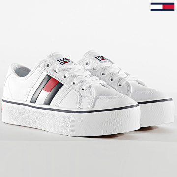 Tommy Jeans - Baskets Femme Platform Flag 0944 White