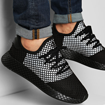 Adidas Originals - Baskets Deerupt Runner EG5355 Core Black Silver Metallic