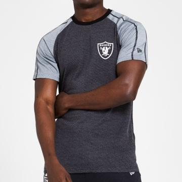 New Era - Tee Shirt Raglan 12369692 Oakland Raiders Grios Anthracite