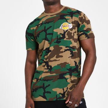 New Era - Tee Shirt Camo 12369795 Los Angeles Lakers Camouflage Vert Kaki