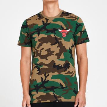 New Era - Tee Shirt Camo 12369797 Chicago Bulls Camouflage Vert Kaki