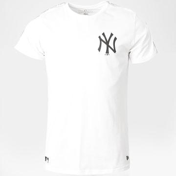 New Era - Tee Shirt A Bande Taping 12369819 New York Yankees Blanc