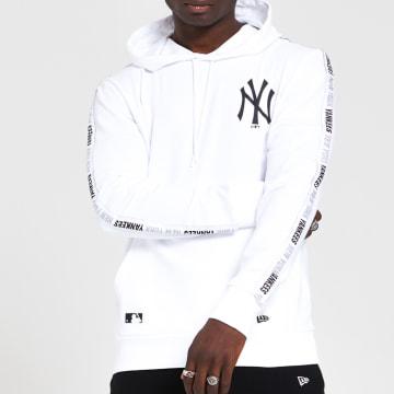 New Era - Sweat Capuche A Bande Taped 12369825 New York Yankees Blanc