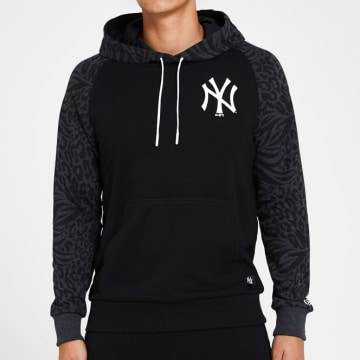 New Era - Sweat Capuche Print Panel 12369836 New York Yankees Noir