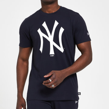 New Era - Tee Shirt Print Infill 12369839 New York Yankees Bleu Marine