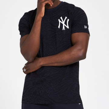 New Era - Tee Shirt All Over Print 12369853 New York Yankee Bleu Marine