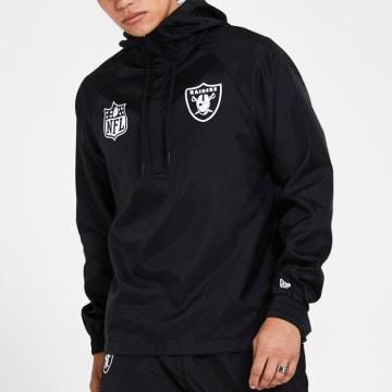 New Era - Coupe-Vent Capuche Col Zippé 12380481 Oakland Raiders Noir