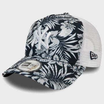 New Era - Casquette Trucker Floral Print 12381009 New York Yankees Bleu Marine