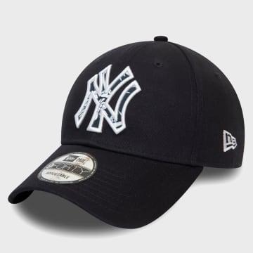 New Era - Casquette 9Forty Infill 12381222 New York Yankees Bleu Marine