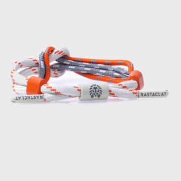 Rastaclat - Bracelet Bowline Orange Blanc