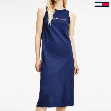 Tommy Jeans - Robe Femme Logo 7907 Bleu Marine