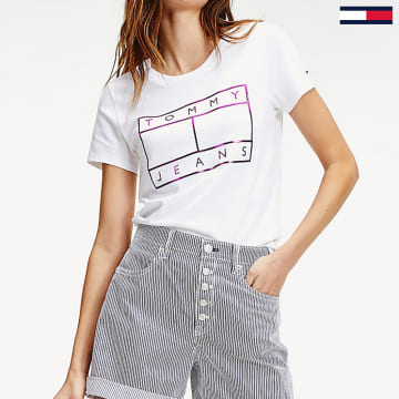 Tommy Jeans - Tee Shirt Femme 8063 Jaune