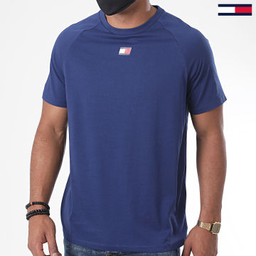 Tommy Sport - Tee Shirt Chest Logo 0356 Bleu Marine