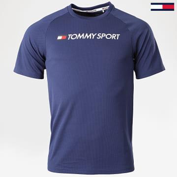 Tommy Sport - Tee Shirt Logo 0357 Bleu Marine