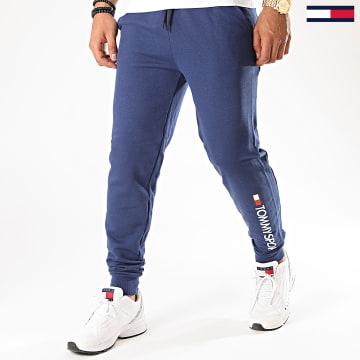 Tommy Sport - Pantalon Jogging Cuff Fleece Logo 0359 Bleu Roi
