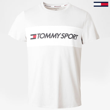 Tommy Sport - Tee Shirt Colour-Blocked Logo 0375 Gris