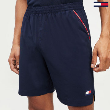 Tommy Sport - Short Jogging Stretch Woven Piping 0460 Bleu Marine
