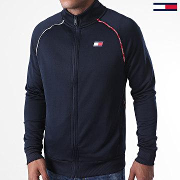 Tommy Sport - Veste Zippée A Bandes 0466 Bleu Marine