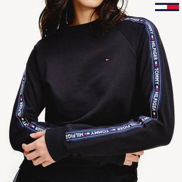 Tommy Hilfiger - Sweat Crewneck A Bandes Logo 2364 Bleu Marine