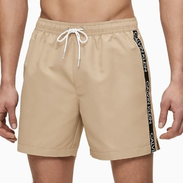 Calvin Klein - Short De Bain Medium Drawstring 0434 Beige