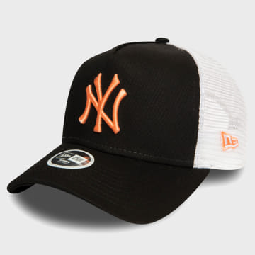 New Era - Casquette Trucker Femme League Essential 12380755 New York Yankees Noir Orange