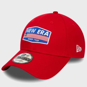 New Era - Casquette USA Patch 12380934 Rouge
