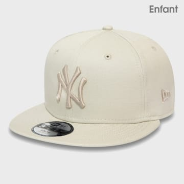 New Era - Casquette Snapback Enfant 9Fifty League Essential 12381047 New York Yankees Beige