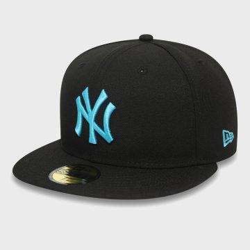 New Era - Casquette Fitted 59Fifty League Essential 12381073 New York Yankees Noir Bleu