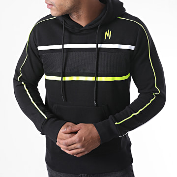 NI by Ninho - Sweat Capuche Diamond Noir Jaune