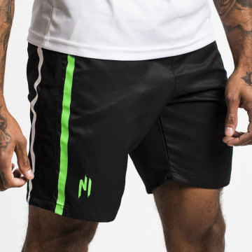 NI by Ninho - Short A Bande Diamond Noir Vert
